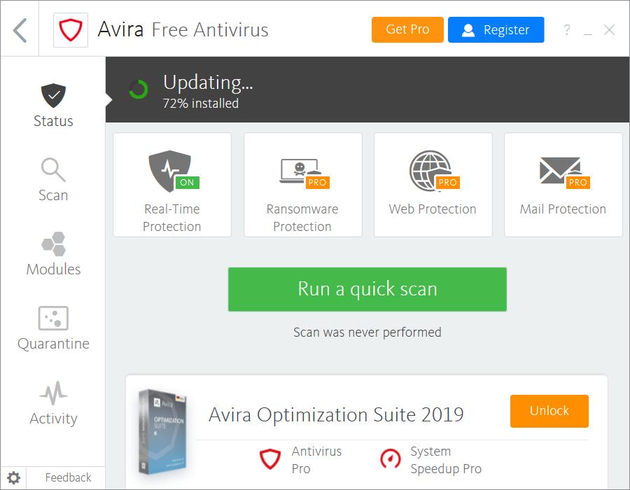 تحميل برنامج افيرا Avira للكمبيوتر للحماية من الفيروسات مجانا img 2186