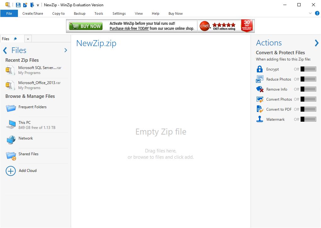 تحميل برنامج WinZip لفك الضغط للكمبيوتر من ميديا فاير مجانا img 2832