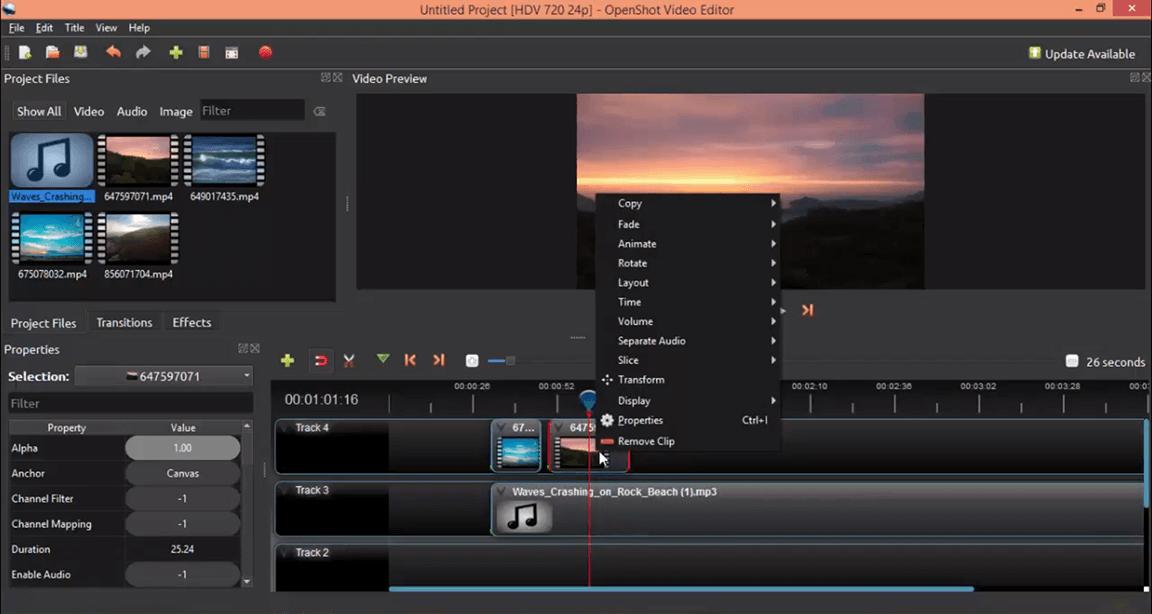 تحميل برنامج Openshot
