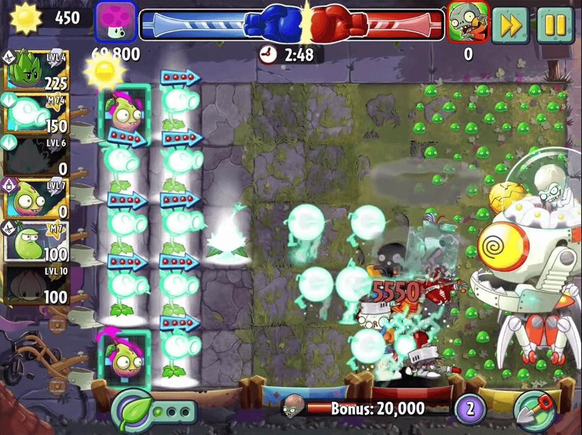 لعبة النباتات ضد الزومبي 4