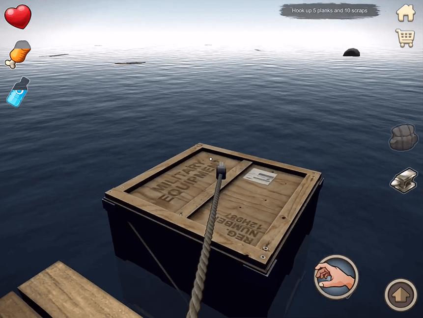 لعبة raft
